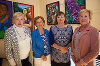Pat Wallace, Charleville, Maura Connolly, Mary Wallace  and Eileen Coleman from Galway at Frank O'Sullivan's Exhibition of new work opening at the Town Hall Theatre Galway which runs till Wed the 15th of June . Photo:Andrew Downes, xposure