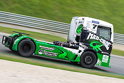 06.07.2013, Red Bull Ring, Spielberg, AUT, Truck Race Trophy, Renntag 1, im Bild Mika Maekinen, (FIN, Mika Maekinen, #7) // during the Truck Race Trophy 2013 at the Red Bull Ring in Spielberg, Austria, 2013/07/06, EXPA Pictures © 2013, PhotoCredit: EXPA/ M.Kuhnke