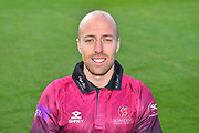 Head shot of Jack Leach in the Royal London One-Day Cup kit during the 2019 media day at Somerset County Cricket Club at the Cooper Associates County Ground, Taunton, United Kingdom on 2 April 2019
