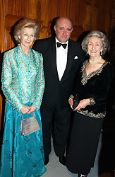 Left to right, HRH PRINCESS ALEXANDRA, The Russian Ambassador MR GRIGORI KARASIN and PRINCESS JEAN GALITZINE at a recital and dinner to celebrate the 10th anniversary of The Galitzine Library held at 2 Temple Place, London WC2 on 16th November 2004.<br />