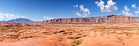 The Straight Cliffs rise above Grand Staircase-Escalante National Monument, Utah. Navajo Mountain is in the distance.