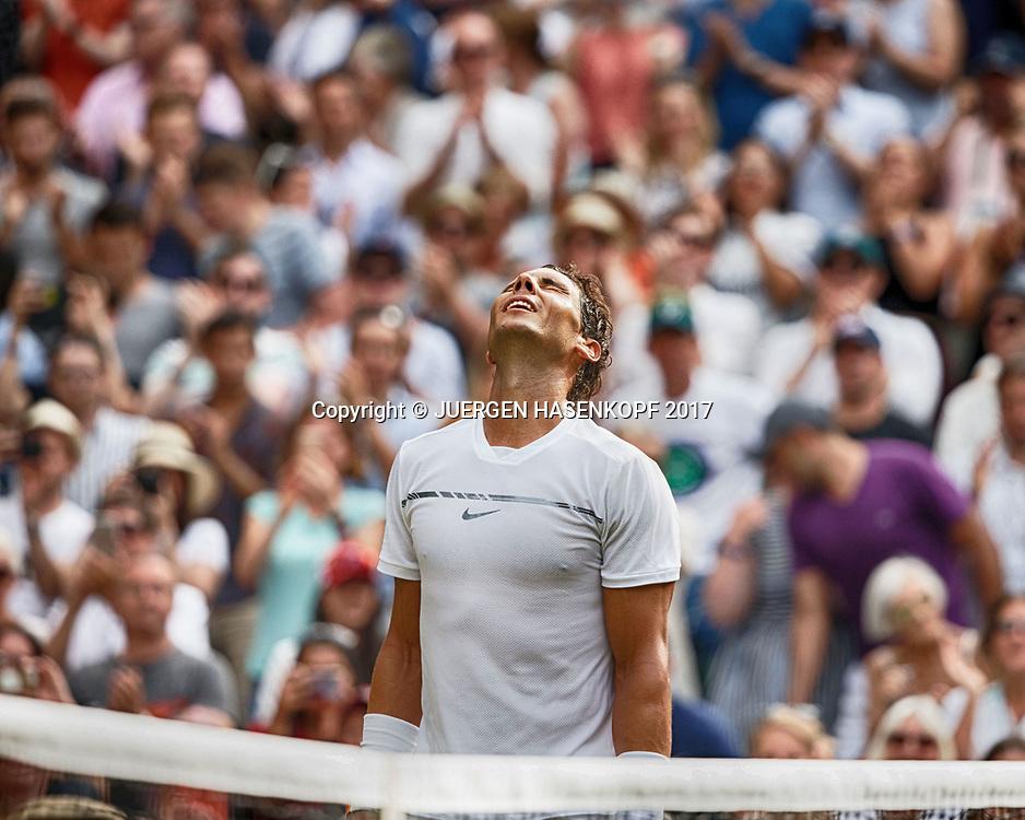 RAFAEL NADAL (ESP)  jubelt,Jubel,Emotion,<br /> <br /> Tennis - Wimbledon 2017 - Grand Slam ITF / ATP / WTA -  AELTC - London -  - Great Britain  - 7 July 2017.