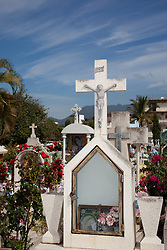 Mexican Cemetery 20 - Photograph taken in El Panteón Cementario, also know as Cementario Viejo or old cemetery, in Puerto Vallarta, Mexico.