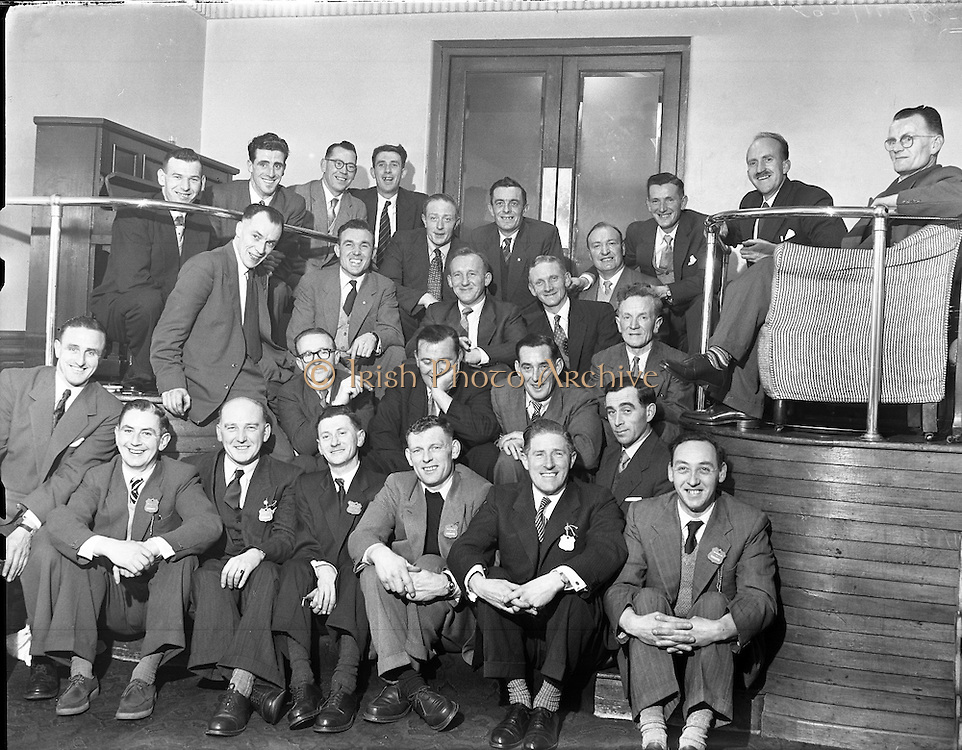 Irish Shell - Reception for 25 year Staff Members .01/02/1958 .