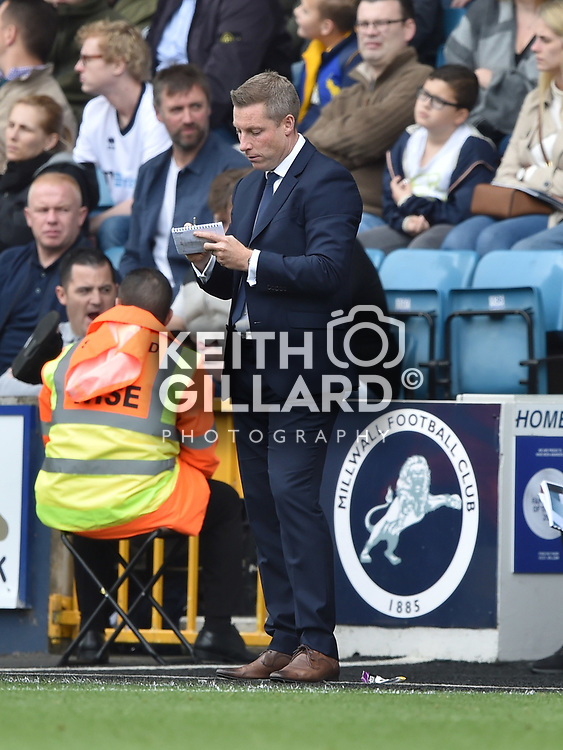 Millwall v Barnsley, Sky Bet Championship, The New Den, 30 September  2017. <br /> <br /> <br /> Image by Keith Gillard