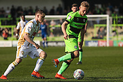 Forest Green Rovers George Williams(11) on the ball during the EFL Sky Bet League 2 match between Forest Green Rovers and Milton Keynes Dons at the New Lawn, Forest Green, United Kingdom on 30 March 2019.