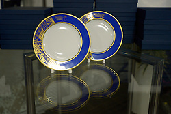 Ceremonial Plates in the Presidential Suite at the Opening Ceremony of the 2014 Sochi Winter Paralympic Games, Sochi, Russia