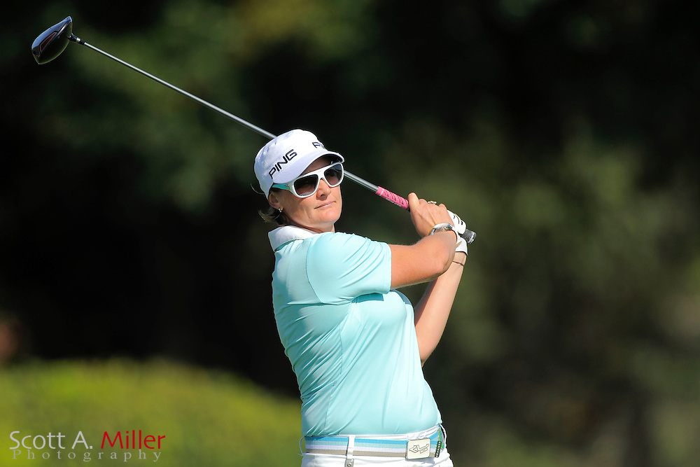 Maria Hjorth during the second round of the CME Group Titleholders at Grand Cypress Resort on Nov. 18, 2011 in Orlando, Fla.  ..©2011 Scott A. Miller