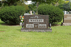 31 August 2017:   Veterans graves in Park Hill Cemetery in eastern McLean County.<br /> <br /> R Thomas Wherry  Vietnam USMC  Sept 4 1943