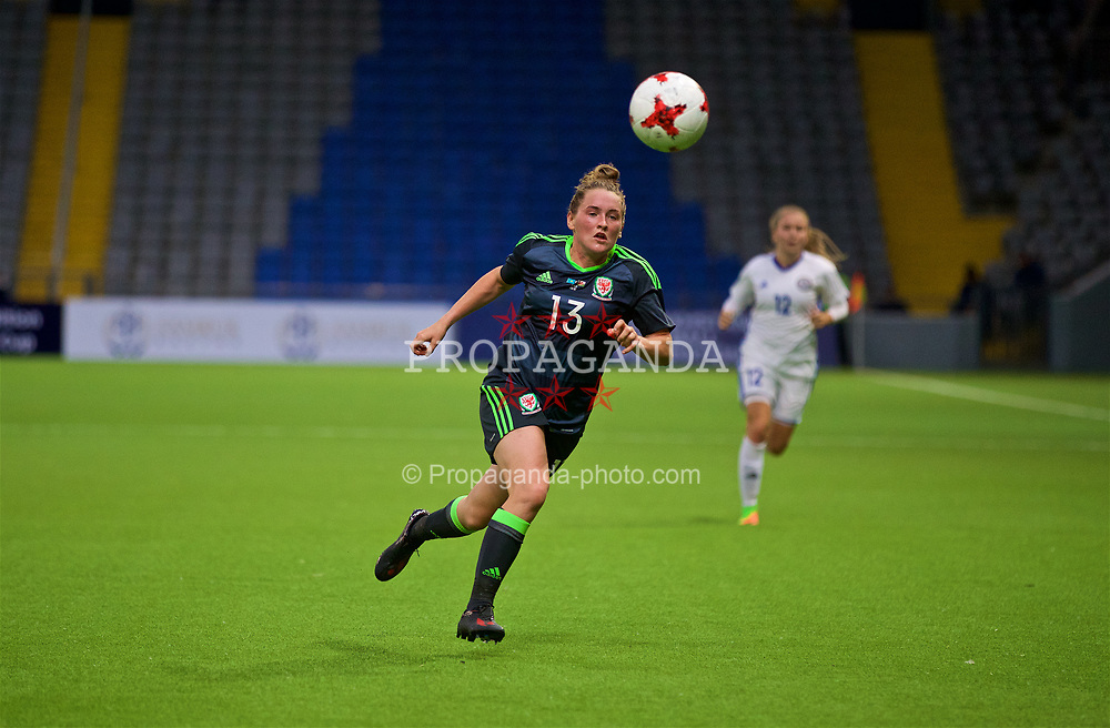 ASTANA, KAZAKHSTAN - Sunday, September 17, 2017: Wales' Rachel Rowe during the FIFA Women's World Cup 2019 Qualifying Round Group 1 match between Kazakhstan and Wales at the Astana Arena. (Pic by David Rawcliffe/Propaganda)