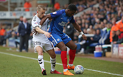 Omar Bogle of Peterborough United holds off Chris Solly of Charlton Athletic - Mandatory by-line: Joe Dent/JMP - 10/03/2018 - FOOTBALL - ABAX Stadium - Peterborough, England - Peterborough United v Charlton Athletic - Sky Bet League One
