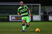 Forest Green Rovers Farrend Rawson(6) passes the ball forward during the EFL Sky Bet League 2 match between Forest Green Rovers and Mansfield Town at the New Lawn, Forest Green, United Kingdom on 29 January 2019.