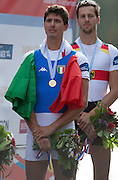 Amsterdam. NETHERLANDS.  ITA  LM1X. Marcello MIANI.  Bosbaan Rowing Course. 2014 World Rowing Champions . 17:14:38  Friday  DATE}  [Mandatory Credit; Peter Spurrier/Intersport-images]