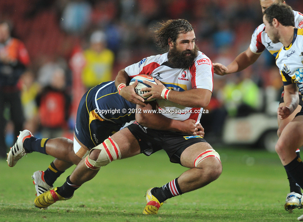 Joshua Strauss (captain) of the Lions <br /> &copy; Esmie Lamprecht/Backpagepix
