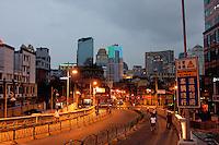road into Shanghai China at night