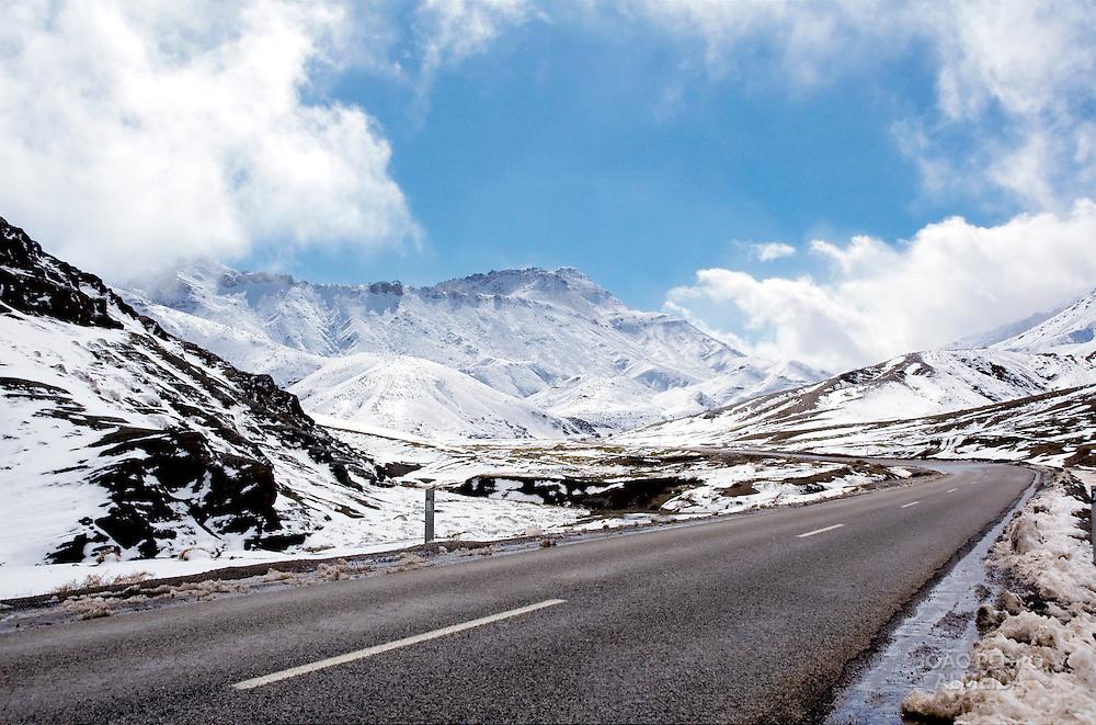 Mountain pass in the Atlas Mountains