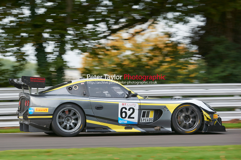 #62 John SAUNDERS Ginetta G50 during GT Cup - Qualifying as part of the MSVR Oulton Park 10th October 2015 at Oulton Park, Little Budworth, Cheshire, United Kingdom. October 10 2015. World Copyright Taylor/PSP. Copy of publication required for printed pictures.  Every used picture is fee-liable. http://archive.petertaylor-photographic.co.uk