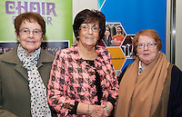 Christine Devane, Phil Grealish and Margaret Duignan Mervue at Choir Factor in the Radisson Blu.<br /> Choir Factor is a fundraiser for The Sccul Sanctuary, Therapeutic Support Centre in Kilcornan Clarenbrdge.<br /> <br />  Photo:Andrew Downes, xposure.