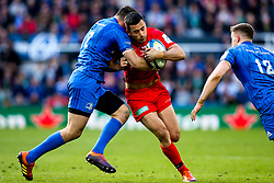 Alex Lozowski of Saracens is tackled by Robbie Henshaw of Leinster Rugby - Mandatory by-line: Robbie Stephenson/JMP - 11/05/2019 - RUGBY - St James' Park - Newcastle, England - Leinster Rugby v Saracens - Heineken Champions Cup Final