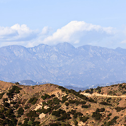 Photo of Santa Monica Mountains and Hollywood Hills in Los Angeles California.