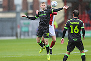 Forest Green Rovers Nathan McGinley(19) during the EFL Sky Bet League 2 match between Crewe Alexandra and Forest Green Rovers at Alexandra Stadium, Crewe, England on 27 April 2019.