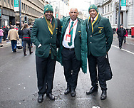 Some South African fans outside the stadium<br /> <br /> Photographer Simon King/Replay Images<br /> <br /> Under Armour Series - Wales v Australia - Saturday 10th November 2018 - Principality Stadium - Cardiff<br /> <br /> World Copyright © Replay Images . All rights reserved. info@replayimages.co.uk - http://replayimages.co.uk