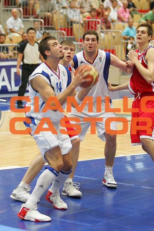 DESCRIZIONE : Nova Gorica U20 European Championship Men Qualifying Round Serbia Russia <br /> GIOCATORE : Dragovic <br /> SQUADRA : Serbia <br /> EVENTO : Nova Gorica U20 European Championship Men Qualifying Round Serbia Russia Campionato Europeo Maschile Under 20 Qualificazioni Serbia Russia <br /> GARA : Serbia Russia <br /> DATA : 11/07/2007 <br /> CATEGORIA : Penetrazione <br /> SPORT : Pallacanestro <br /> AUTORE : Agenzia Ciamillo-Castoria/S.Silvestri <br /> Galleria : Europeo Under 20 <br /> Fotonotizia : Nova Gorica U20 European Championship Men Qualifying Round Serbia Russia <br /> Predefinita :