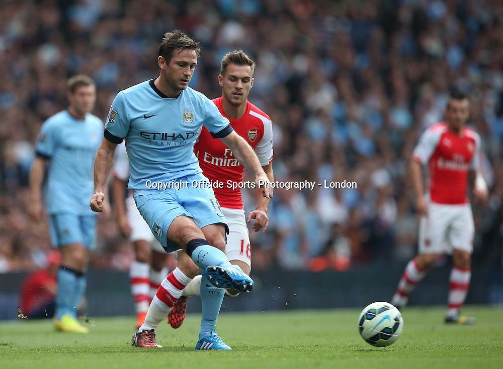 13 September 2014 , Premier League ,  Football Arsenal v Manchester City Frank Lampard in action for City.<br /> Photo: Mark Leech