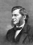 Thomas Henry Huxley (1823-1883) English biologist. Huxley at the time of his presidency of the British Association for the Advancement of Science.  He was known as 'Darwin's bulldog' for his championship of evolution by natural selection after the publication of Darwin's 'On the Origin of Species' in 1859. From 'The Illustrated London News'. (London, 17 September 1870). First to use the word agnostic. Engraving.