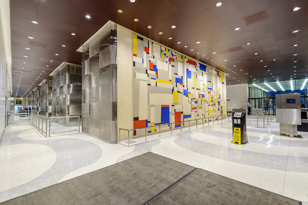 Fritz garner painting relational painting time life building lobby 1271 6th ave new for New york life building interior