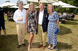 Left to right, GUY & FIONA SANGSTER, PADDY McNALLY and SARAH TYZACK at the Cartier 'Style et Luxe' part of the Goodwood Festival of Speed, Goodwood House, West Sussex on 14th July 2013.