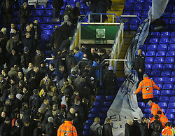 Bristol Rovers fans push the barrier back as more come in - Photo mandatory by-line: Joe Meredith/JMP - Tel: Mobile: 07966 386802 14/01/2014 - SPORT - FOOTBALL - St Andrew's Stadium - Birmingham - Birmingham City v Bristol Rovers - FA Cup - Third Round