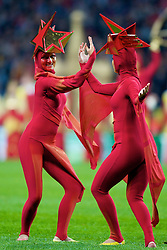 MOSCOW, RUSSIA - Wednesday, May 21, 2008: Dancers during the opening ceremony of the UEFA Champions League Final at the Luzhniki Stadium. (Photo by David Rawcliffe/Propaganda)