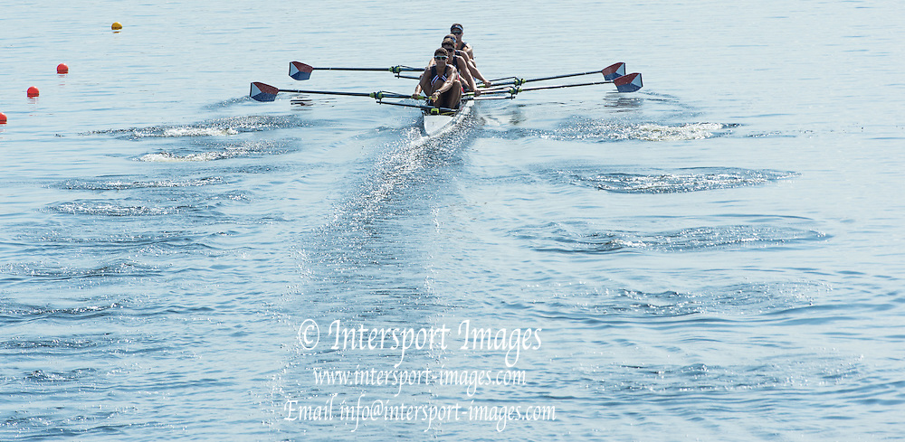 Hamburg. GERMANY.   Friday, Morning Quarter Finals at the 2014 FISA Junior World rowing. Championships.  11:01:16  Friday  08/08/2014  [Mandatory Credit; Peter Spurrier/Intersport-images]