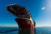 Front view and helipad for the Boa Sub C Multi purpose Offshore Vessel