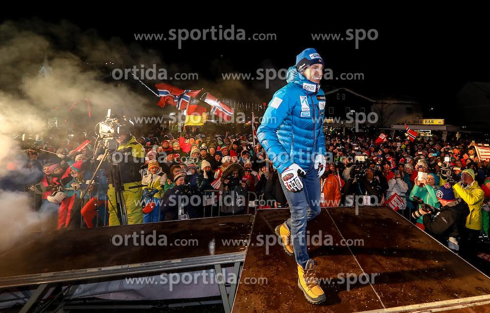 23.01.2017, Planai, Schladming, AUT, FIS Weltcup Ski Alpin, Slalom, Herren, Startnummernauslosung, im Bild Henrik Kristoffersen (NOR) // Henrik Kristoffersen of Norway during the bibdraw prior to the Schladming FIS Ski Alpine World Cup 2017 at the Planai in Schladming, Austria on 2017/01/23. EXPA Pictures © 2017, PhotoCredit: EXPA/ Martin Huber