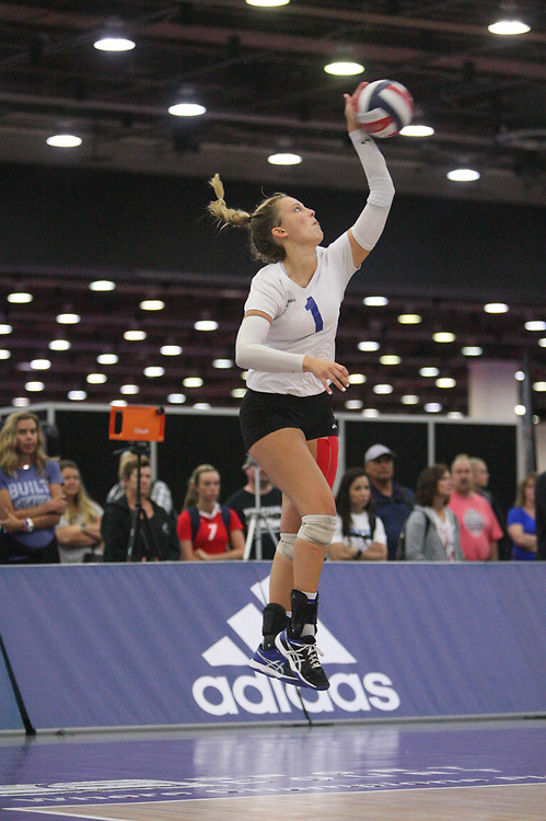 GJNC - July 2018 - Detroit, MI - 16 Open finals - MAVS (white) - Coast (black) - Photo by Wally Nell/Volleyball USA
