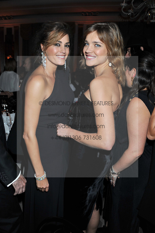 Left to right, YASMIN LE BON and NATALIA VODIANOVA at the Harper's Bazaar Women of the Year Awards 2011 held at Claridge's, Brook Street, London on 7th November 2011.
