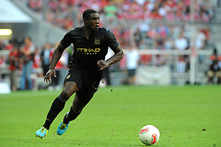 31.07.2013, Allianz Arena, Muenchen, Audi Cup 2013, Manchester City vs AC Milan, im Bild, Micah RICHARDS (Manchester City), Freisteller, Ganzkoerper, Ganzfigur, Einzelaktion, quer, querformat, horizontal, landscape, Aktion,  // during the Audi Cup 2013 match between Manchester City and AC Milan at the Allianz Arena, Munich, Germany on 2013/07/31. EXPA Pictures © 2013, PhotoCredit: EXPA/ Eibner/ Wolfgang Stuetzle<br /> <br /> ***** ATTENTION - OUT OF GER *****
