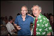JAMES LINGWOOD; ROBIN KLASSNIK, Matt's Gallery 35th birthday fundraising supper.  42-44 Copperfield Road, London E3 4RR. 12 June 2014.
