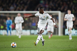 February 6, 2019 - Barcelona, Catalonia, Spain - February 6, 2019 - Camp Nou, Barcelona, Spain - Copa del Rey - FC Barcelona v Real Madrid CF; Vinicus Jr passes the ball through midfield. (Credit Image: © Marc Dominguez/ZUMA Wire)