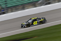 October 19, 2018 - Kansas City, Kansas, United States of America - Jimmie Johnson (48) hangs out in the garage during practice for the Hollywood Casino 400 at Kansas Speedway in Kansas City, Kansas. (Credit Image: © Justin R. Noe Asp Inc/ASP via ZUMA Wire)