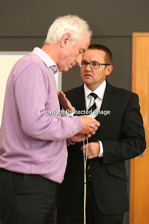 New Zealand Cricket Coach Mike Hesson during a press conference announcing Ross Taylor's sacking as New Zealand Cricket Captain and announcing Brendon McCullum as his replacement. Bert Sutcliffe Oval, Lincoln. Friday 7 December 2012. Photo: Martin Hunter/Photosport.co.nz