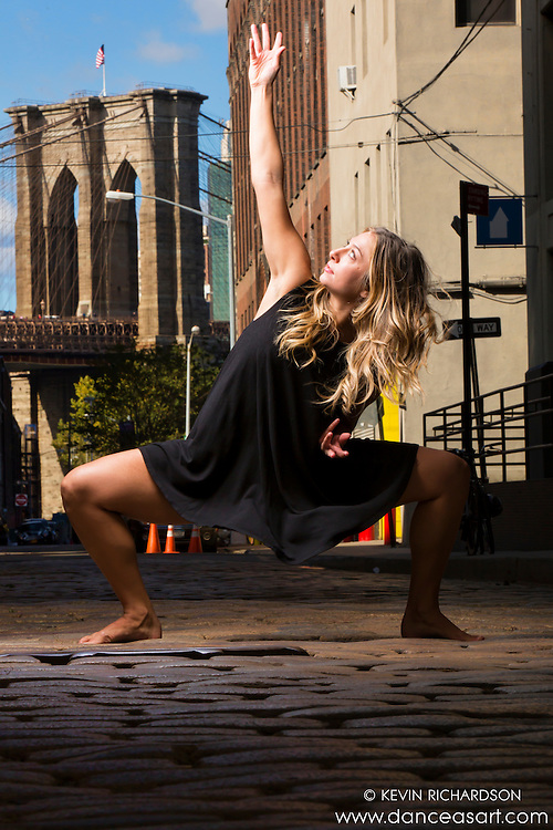 Brooklyn Bridge Dance As Art The New York Photography Project featuring Summation Dance Company dancer, Allie Lochary