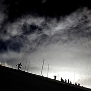 Marine Oberson, Switzerland, in action during the Women's Slalom event during the Winter Games at Cardrona, Wanaka, New Zealand, 24th August 2011. Photo Tim Clayton...