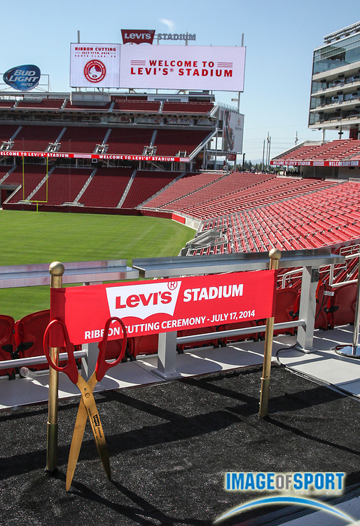 Jul 17, 2014; Santa Clara, CA, USA; General view of signage at Levi's Stadium.