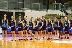 Team Cinkarna Celje before the basketball match between Akson Ilirija and Cinkarna Celje in Final Round of Pokal Članic 2018/19, on March 10, 2019 in Dvorana Tabor, Maribor, Slovenia. Photo by Blaž Weindorfer / Sportida