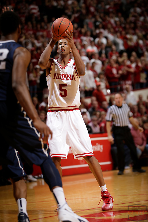 Indiana forward Troy Williams (5) as Penn State played Indiana in an NCCA college basketball game in Bloomington, Ind., Tuesday, Jan. 13, 2015. (AJ Mast)