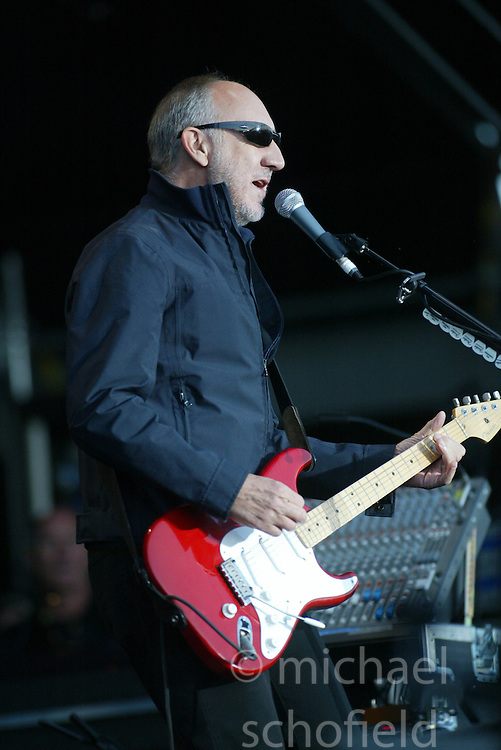 Pete Townshend of The Who headline on the main stage..T in the Park, Sunday 2006..©Michael Schofield..