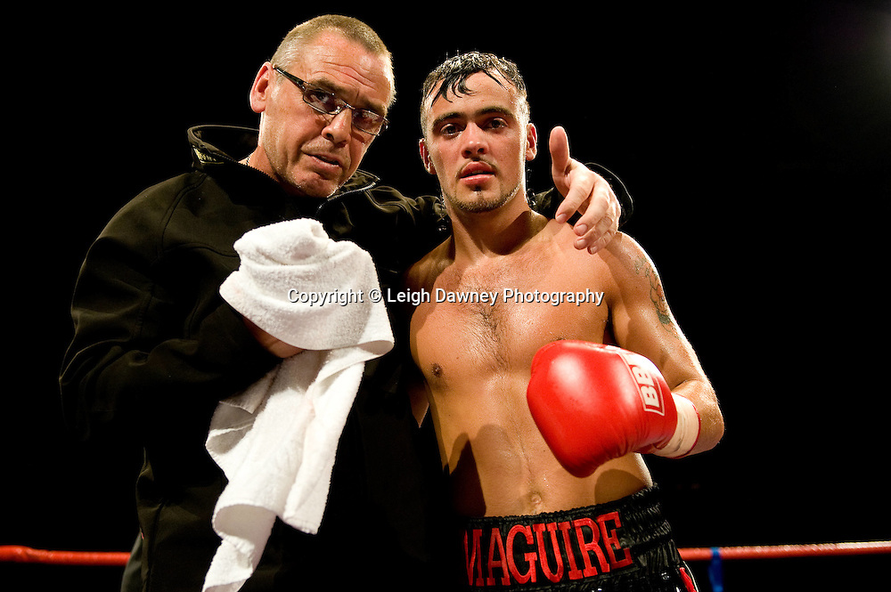Michael Mcguire with Johnny Eames at Brentwood Centre 22nd January 2010, Frank Maloney Promotions,Credit: © Leigh Dawney Photography